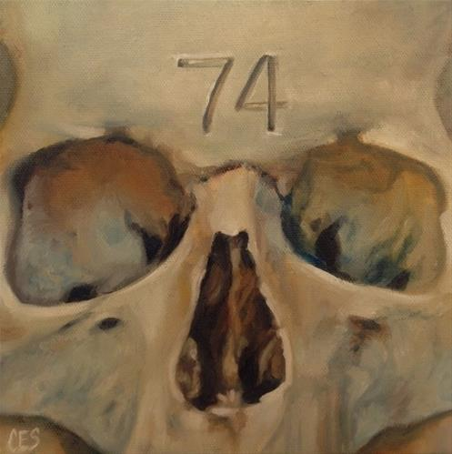 """Skull 74"" original fine art by ~ces~ Christine E. S. Code"