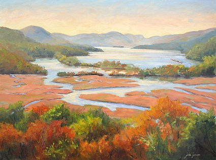 """Colors of the Hudson"" original fine art by Jamie Williams Grossman"