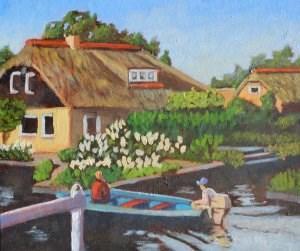 """""""Dutch Canal"""" original fine art by Robert Frankis"""