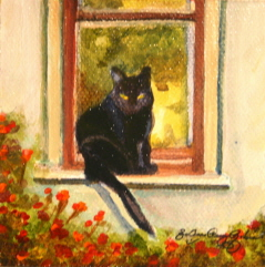 """Window Seat"" original fine art by JoAnne Perez Robinson"