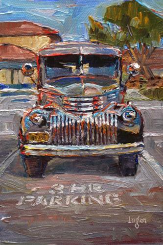 """'46 Chevy Panel Truck"" original fine art by Raymond Logan"