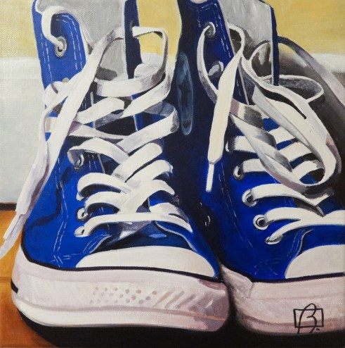 """Converse High Tops"" original fine art by Andre Beaulieu"