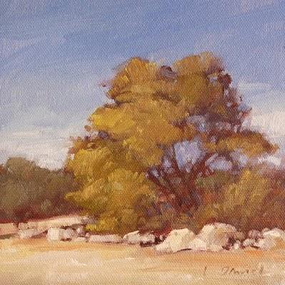 """Grand Oak"" original fine art by Laurel Daniel"