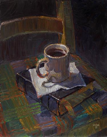 """""""Joe & Sherlock Holmes"""" original fine art by Raymond Logan"""