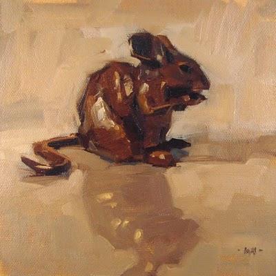 """Chubby Reflected"" original fine art by Carol Marine"