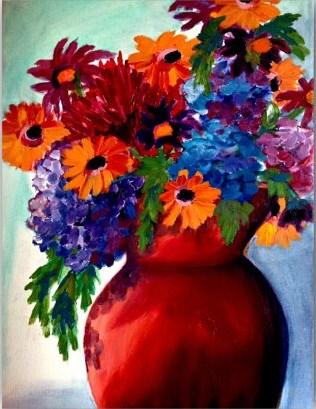 """""""Summer Bouquet"""" original fine art by Dana C"""