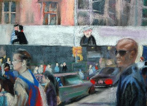 """Street Corner"" original fine art by Donna Crosby"