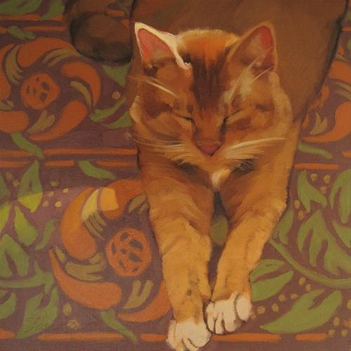 """Fennec in Sun"" original fine art by Diane Hoeptner"