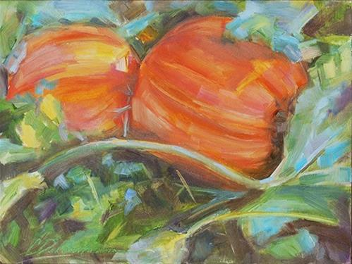 """Harvest Time"" original fine art by Carol DeMumbrum"