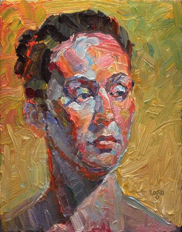 """Amanda"" original fine art by Raymond Logan"