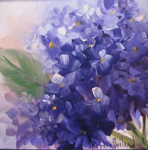"""Purple and Blue Hydrangeas"" original fine art by Barbara Haviland"