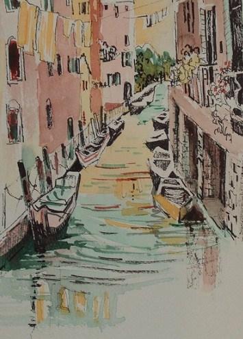"""""""Italy, Venice Canal #3"""" original fine art by Nicola Dalbenzio"""