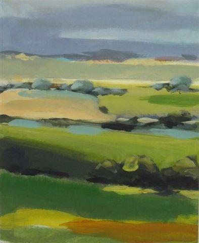 """Landscape 38"" original fine art by Ewa Kunicka"