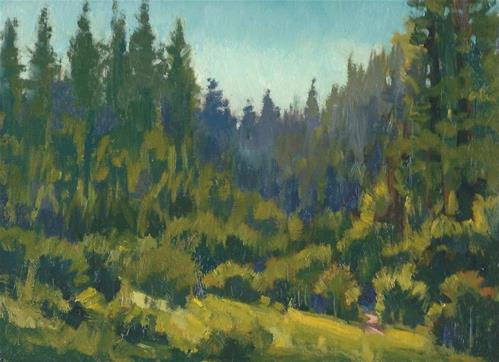 """End of the meadow"" original fine art by J. Thomas soltesz"