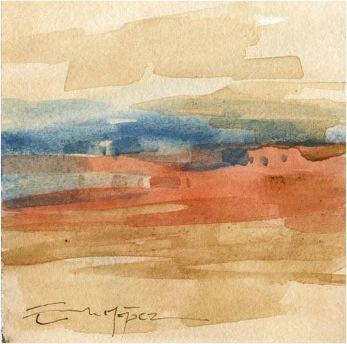 """paisaje 60"" original fine art by Emilio López"