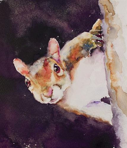 """Peek at You"" original fine art by Sue Churchgrant"
