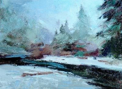 """Silver Creek"" original fine art by Susan Hammer"