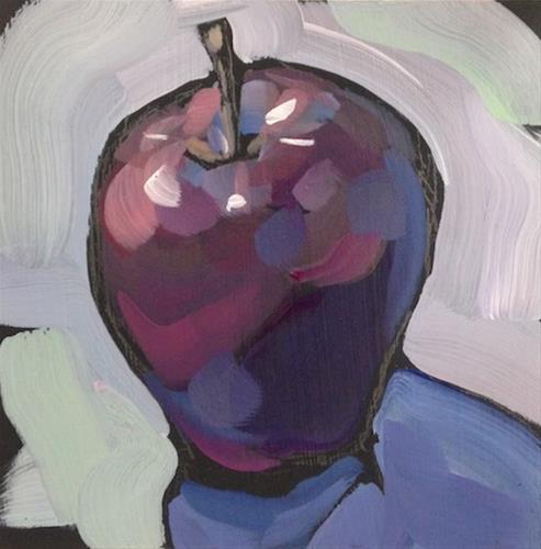 """Stand Up Apple"" original fine art by Kat Corrigan"