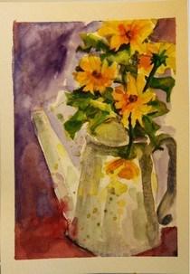 """Russian Watercolors"" original fine art by Maggie Flatley"