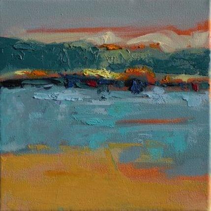 """Landscape 110"" original fine art by Ewa Kunicka"