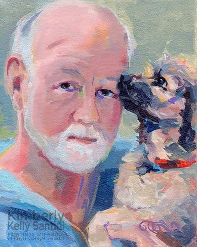 """Man's Best Friend"" original fine art by Kimberly Santini"