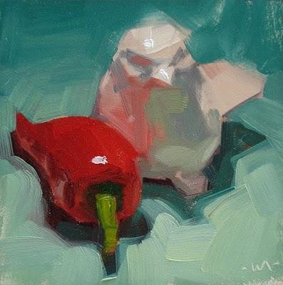 """Hot Bird"" original fine art by Carol Marine"