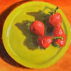 """Red Berries"" original fine art by Robert Frankis"