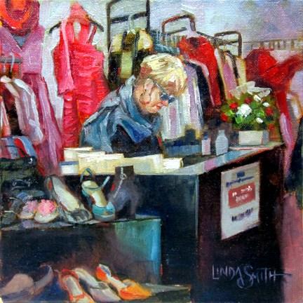 """Resales Lady"" original fine art by Linda K Smith"