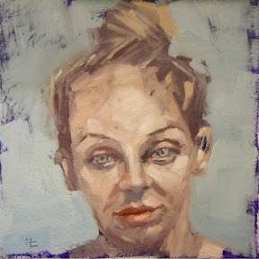 """FACE-IT.  #11"" original fine art by Helen Cooper"
