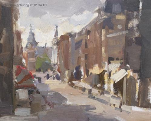 """Cityscape Amsterdam #2 Afternoon view upon Rijksmuseum"" original fine art by Roos Schuring"