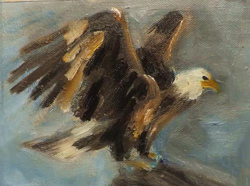 """EAGLE,M12"" original fine art by Run-      Zhang Zane"