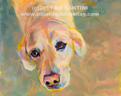 """Maggie A"" original fine art by Kimberly Santini"