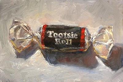 """Tootsie Roll"" original fine art by Raymond Logan"