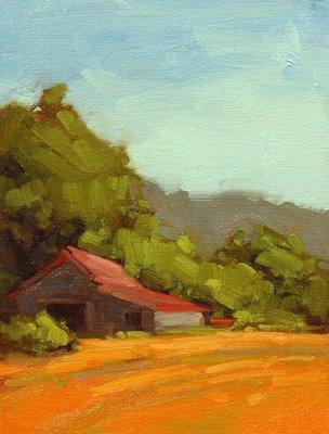"""Grapetown Barn"" original fine art by Laurel Daniel"