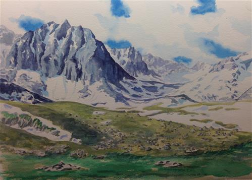 """The Pyrenees in Andorra"" original fine art by Eileen Hennemann"