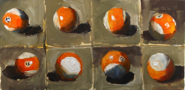 """lucky 13"" original fine art by Carol Carmichael"
