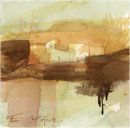 """paisaje 83"" original fine art by Emilio López"