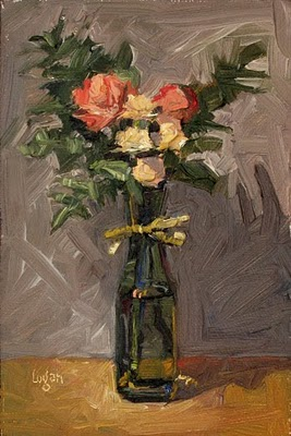 """PTA Bouquet"" original fine art by Raymond Logan"
