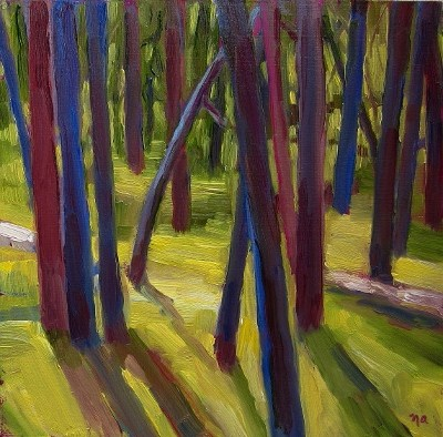 The Woods original fine art by Nicki Ault