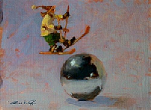 """""""Oops!!"""" original fine art by Ron Ferkol"""