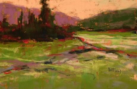 """Field View Pines"" original fine art by Mary McInnis"