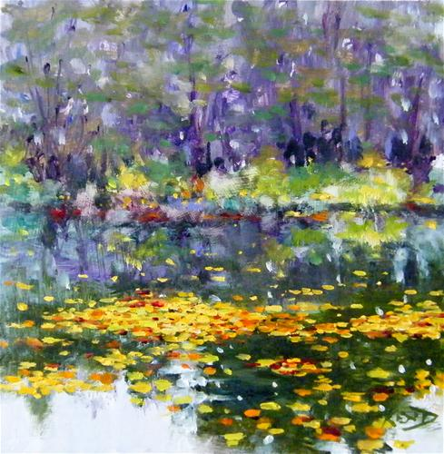 """Yvon's Pond"" original fine art by Ken Devine"