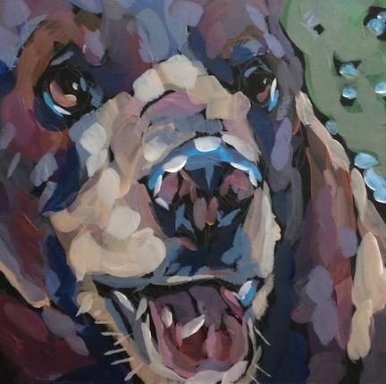 """Confrontation"" original fine art by Kat Corrigan"