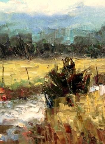 """""""Overcast"""" original fine art by Julie Ford Oliver"""
