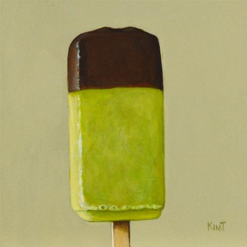 """Champage Popsicle with Chocolate - Commission"" original fine art by Kim Testone"