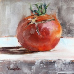 """tomato ugly"" original fine art by Carrie Venezia"