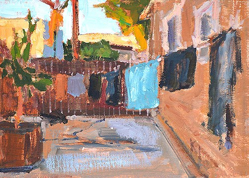 """The Laundry Scene"" original fine art by Kevin Inman"