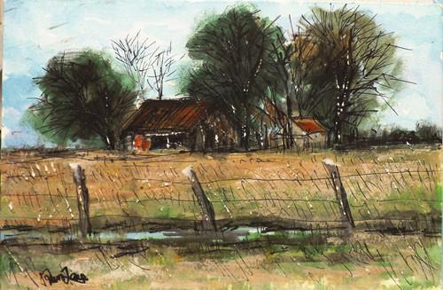 """Landscape,j19"" original fine art by Run-      Zhang Zane"