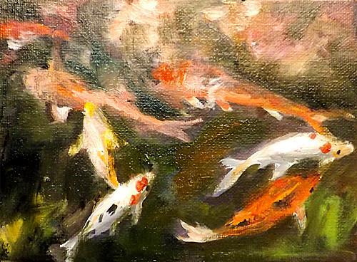 """""""FISH ,A4"""" original fine art by Run-      Zhang Zane"""