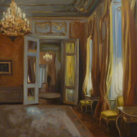 """Yellow Room at the Albertina"" original fine art by Jonelle Summerfield"